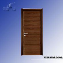 Porta de balanço de madeira sólida francesa interior