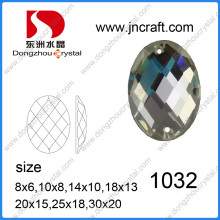 Flat Back Crystal Glass costurar em strass para decoração Shoes