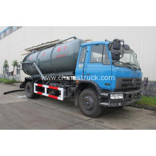 Dongfeng 10M3 PE lined steel vacuum suction tank