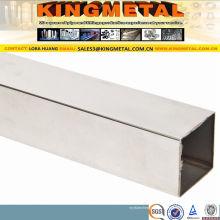 Tuyau carré soudé poli d'acier inoxydable d'ASTM A554 304 / Tp316L / 347H / 201 (KM-56)