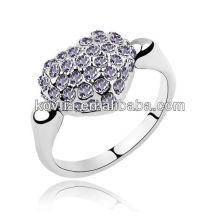 Japão jóia anel titular cz anéis de diamante jóias anel de coração de ouro branco