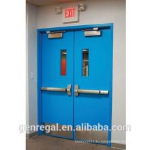 Одобренный BS лучшей цене стальной пожарный выход, двойные двери