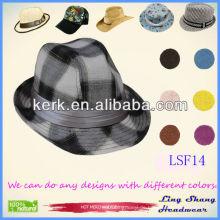 LSF14 2014 Bester Preis Fashion Fabric Fedora online Hüte uk