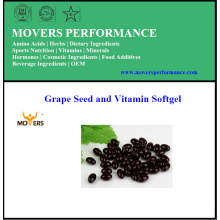 Semilla de uva pura de alta calidad y Vitamina Softgel
