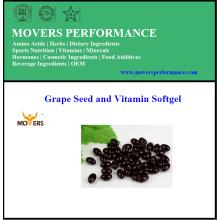 Топ высокое качество чистого виноградных семян и витамин Softgel