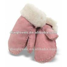 shearling turn cuff sheep skin gloves