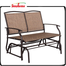 Outdoor Steel Loveseat Double Swing Glider Rocking Chair