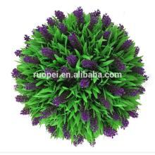 Lavanda púrpura decorativa artificial que da la bola de la hierba