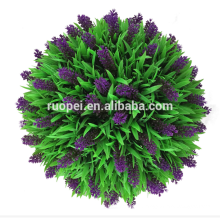 Boule d'herbe artificielle décorative pourpre lavande