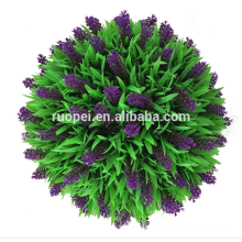 Decorative Purple Lavender Artificial Handing Grass Ball