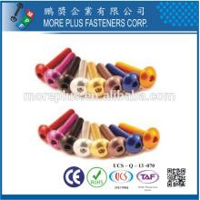 Feito em Taiwan High Quality ISO 7380 Button Hex Socket Head Cap Screw Máquina