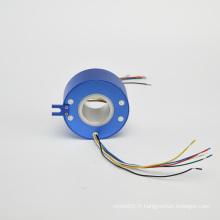 Bague collectrice pivotante électrique conductrice de capsule