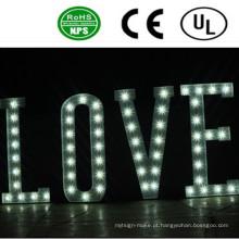 Sinais de letra de bulbo LED de iluminação frontal profissional
