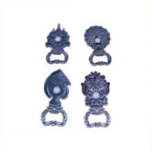 Abridor de garrafa personalizado do ferro fundido da senhora de prata do bronze do ouro do costume