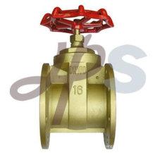 válvula de porta de flange de latão