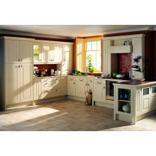U Shape 2015 Pole Households Solid Wood Kitchen Cabinet