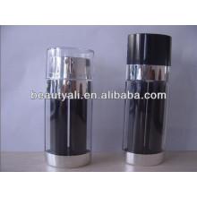 20ml 30ml Bouteille de pompe à air double noir et noir de 60 ml pour emballage cosmétique