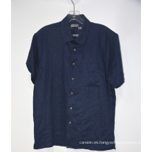 Camisa de lino casual de manga corta