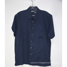 Short Sleeve Casual Linen Shirt