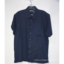 Повседневная льняная рубашка с короткими рукавами