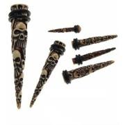Skull Relief Skeleton Acrylic Extender Ear Taper