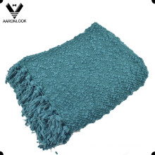 2016 New Woven Chunky Knit Blanket with Fringes