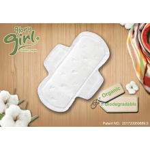 Disposable organic menstrual cotton pads for girls