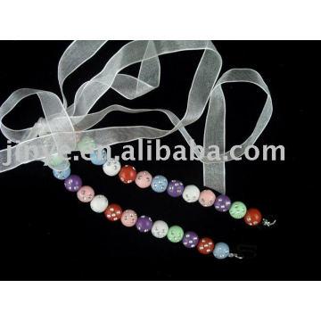Cinta de sutiã de jóias com cercadura de moda