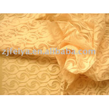 Burn out voile fabric