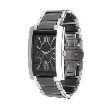 2017 nuevo diseño de moda Popular acero inoxidable reloj. OEM, acero inoxidable, caja cuadrada.