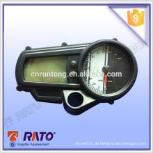 Schwarzes Digital-LED-Instrument Motorrad-Tachometer passend für alle Motorräder