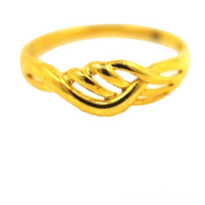 Ring Braid Mudah 18 K Yellow Gold