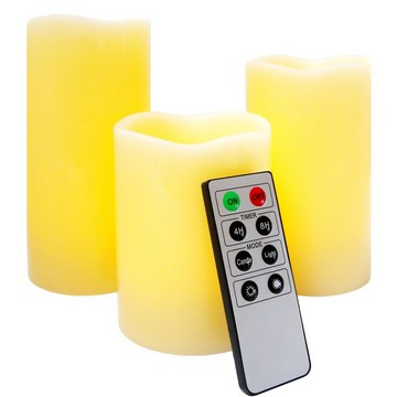 Remote control natural LED candles