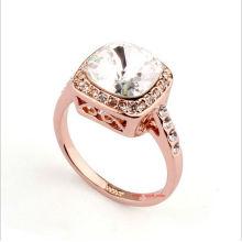Moda anillo de oro anillos de diamantes anillo de bodas joyería nupcial OSFR0019