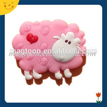 Cute shape funny animal design sheep fridge magnet