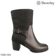 Беверли большой размер 100% натуральная кожа женщины загрузки носки