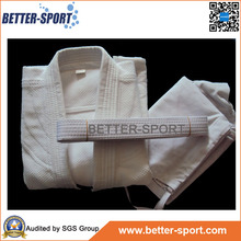Factory Price 100% Cotton White Blue Color Martial Arts Judo Uniform