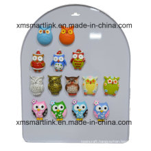 Souvenir Owl Decoration Resin Magnet Gifts
