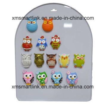Souvenir Owl Décoration Résine Aimant Cadeaux