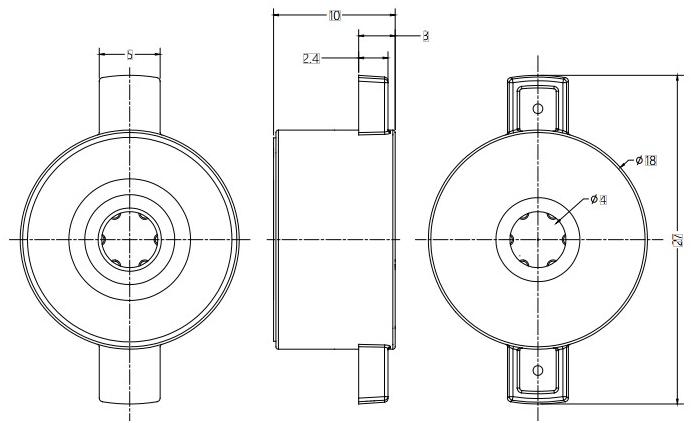 Barrel Damper Drawing For Display Flip