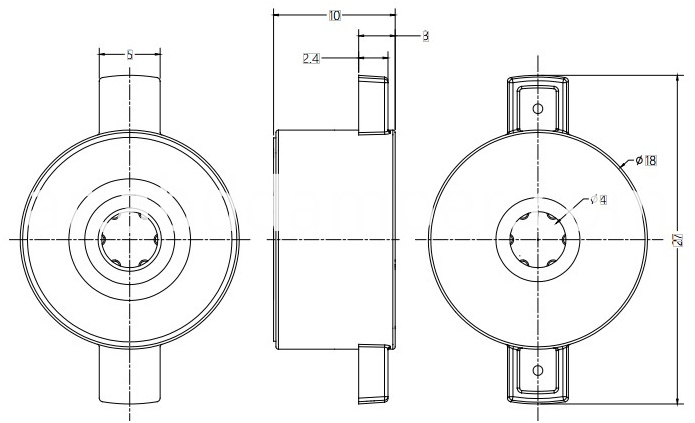 Barrel Damper Drawing For Display Flip
