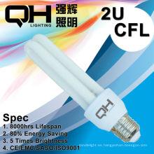 2U 5W Energía ahorro luz/CFL luz/ahorro luz/ahorra energía luz E27 6500K