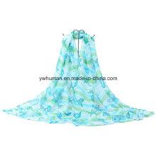 2016 Impreso poliéster bufanda de moda para las mujeres