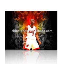 Imagem da parede de NBA para o quarto / presentes os mais atrasados para meninos / arte da impressão da lona do basquetebol