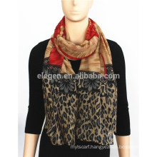 Varied Pattern Printed Acrylic Scarf