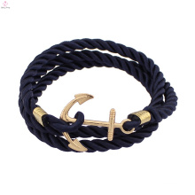 2017 smart charm leather anchor bracelet