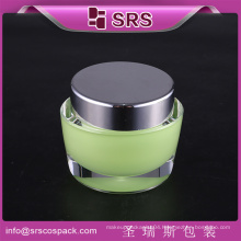 Top Sell Cosmetic Unique Shape Empty 50ml Cream Jar Plastic Personal Care Packaging