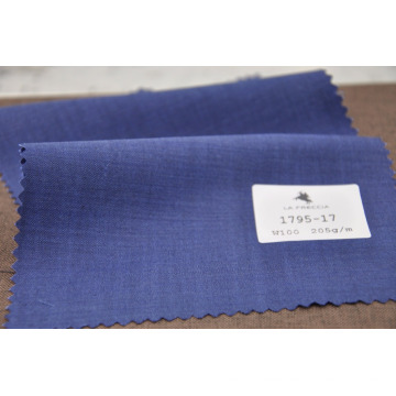 Regular stocking royal blue worsted wool fabrics for suit