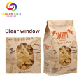 Resealable+Ziplock+Kraft+Paper+Bag+With+Clear+Window