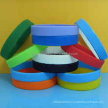 Solid color silicone wristbands , Blank rubber bracelet